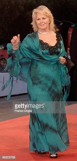 "Singer Katia Ricciarelli arrives for the premiere of the in competition film ""La Seconda Notte Di Nozze"" at the Palazzo del Cinema on the tenth day..."
