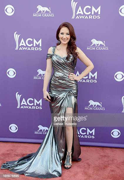 Singer Katie Armiger arrives at the 48th Annual Academy of Country Music Awards at the MGM Grand Garden Arena on April 7 2013 in Las Vegas Nevada