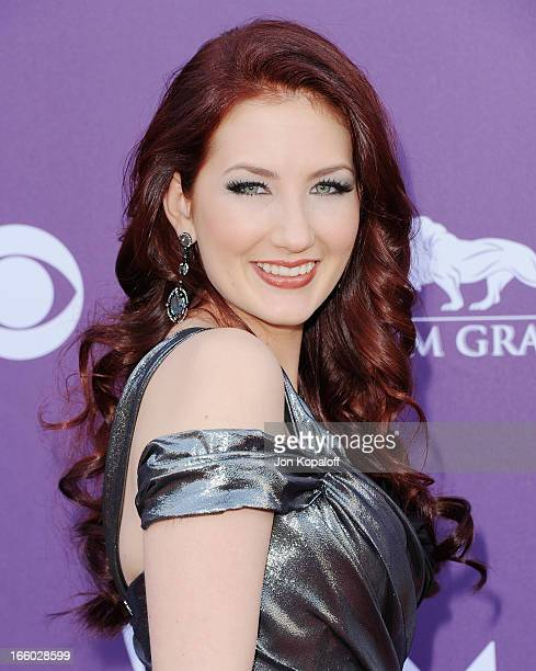 Singer Katie Armiger arrives at the 48th Annual Academy Of Country Music Awards at MGM Grand Garden Arena on April 7 2013 in Las Vegas Nevada