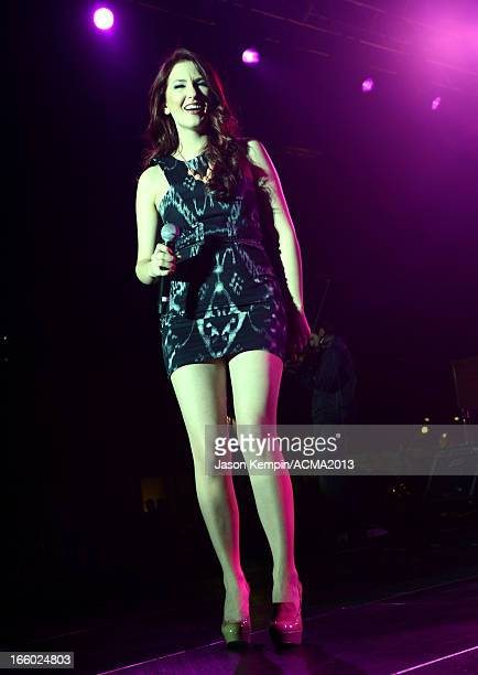 Singer Katie Armiger performs onstage at the All Star Jam during the 48th Annual Academy Of Country Music Awards at the MGM Grand Hotel/Casino on...