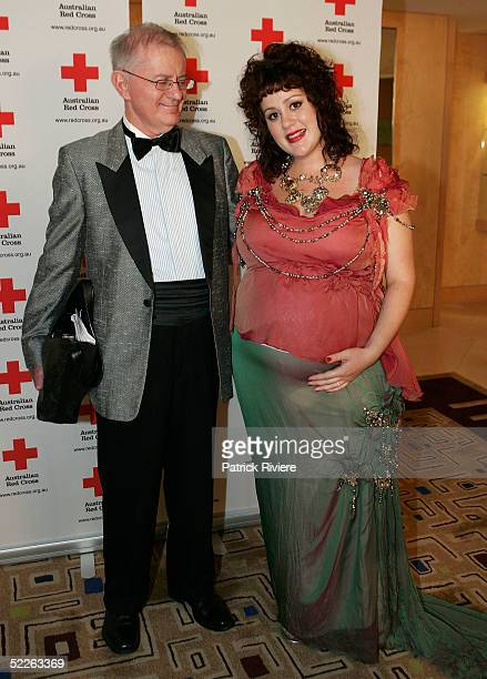 Singer Katie Noonan and her father Brian attend the Australian Red Cross 90th Anniversary Gala at the Westin Hotel March 2 2005 in Sydney Australia