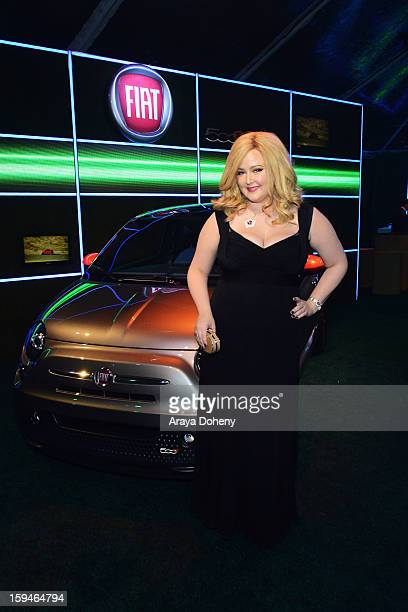 Singer Katrina Parker attends Fiat's Into The Green at the 70th Annual Golden Globe Awards held at The Beverly Hilton Hotel on January 13 2013 in...