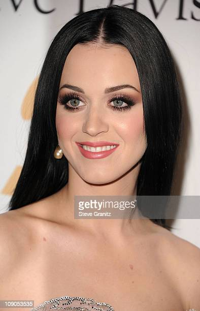 Singer Katy Perry aka Katy Brand arrives at the 2011 PreGRAMMY Gala and Salute To Industry Icons Honoring David Geffen at The Beverly Hilton Hotel on...