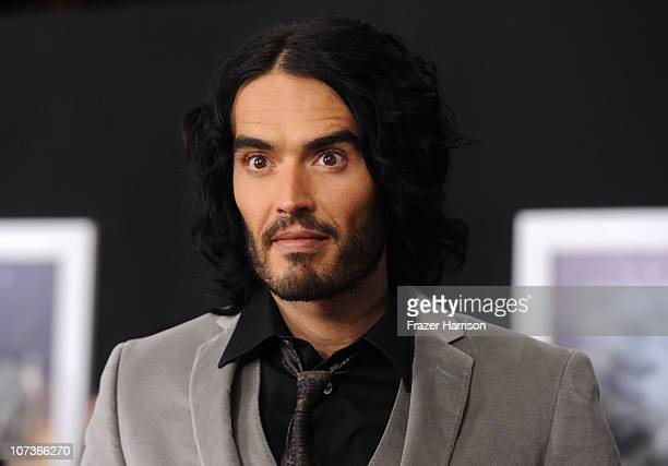 Singer Katy Perry and actor Russell Brand arrive at the premiere of Touchstone Pictures and Miramax Films' 'The Tempest' at the El Capitan Theatre on...