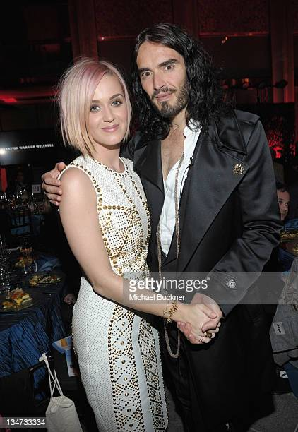 Singer Katy Perry and actor Russell Brand attend the 3rd Annual 'Change Begins Within' Benefit Celebration presented by The David Lynch Foundation...