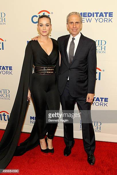 Singer Katy Perry and Executive Director of the David Lynch Foundation Bob Roth attend Change Begins Within A David Lynch Foundation Benefit Concert...