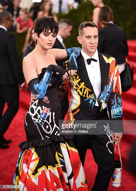Singer Katy Perry and fashion designer Jeremy Scott attend the China Through The Looking Glass Costume Institute Benefit Gala at the Metropolitan...