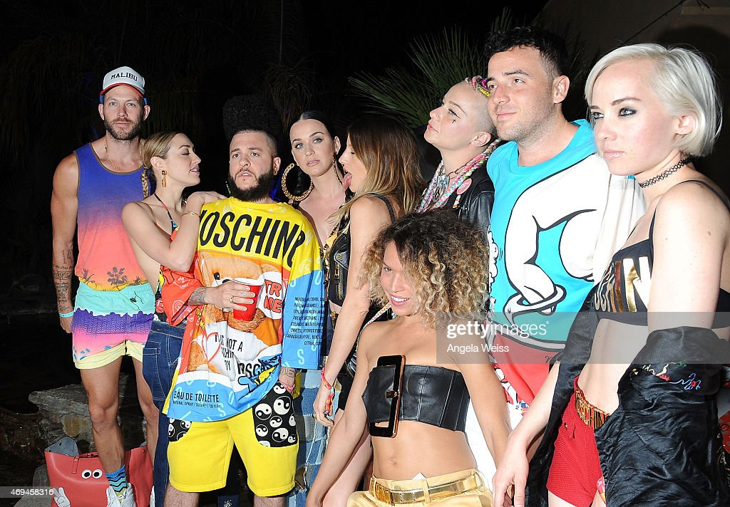 Singer Katy Perry and guests attend Moet Ice Imperial at Moschino's Late Night hosted by Jeremy Scott at Coachella 2015 on April 11, 2015 in Bermuda Dunes, California.