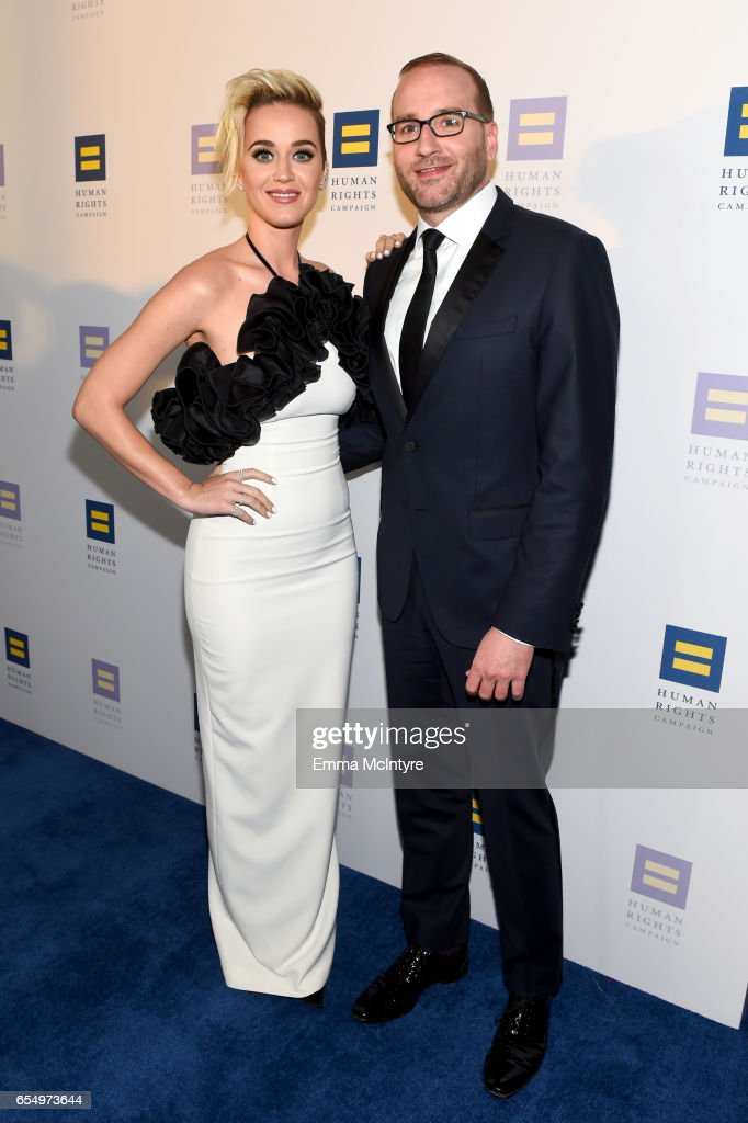 Singer Katy Perry and Human Rights Campaign President Chad Griffin at The Human Rights Campaign 2017 Los Angeles Gala Dinner at JW Marriott Los Angeles at L.A. LIVE on March 18, 2017 in Los Angeles, California.