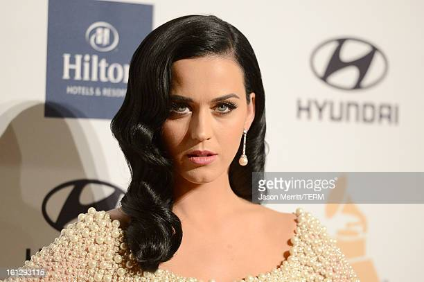 Singer Katy Perry arrives at Clive Davis The Recording Academy's 2013 PreGRAMMY Gala and Salute to Industry Icons honoring Antonio 'LA' Reid at The...
