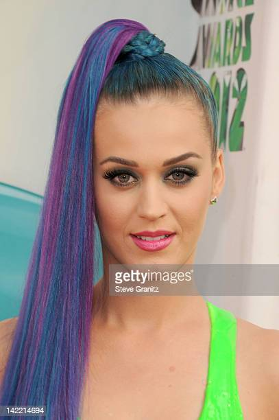 Singer Katy Perry arrives at Nickelodeon's 25th Annual Kids' Choice Awards held at Galen Center on March 31 2012 in Los Angeles California