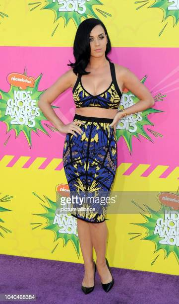 US singer Katy Perry arrives at Nickelodeon's 26th Annual Kids' Choice Awards at USC Galen Center in Los Angeles USA on 23 March 2013 Photo Hubert...