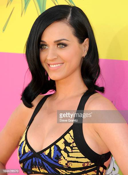 Singer Katy Perry arrives at Nickelodeon's 26th Annual Kids' Choice Awards at USC Galen Center on March 23 2013 in Los Angeles California