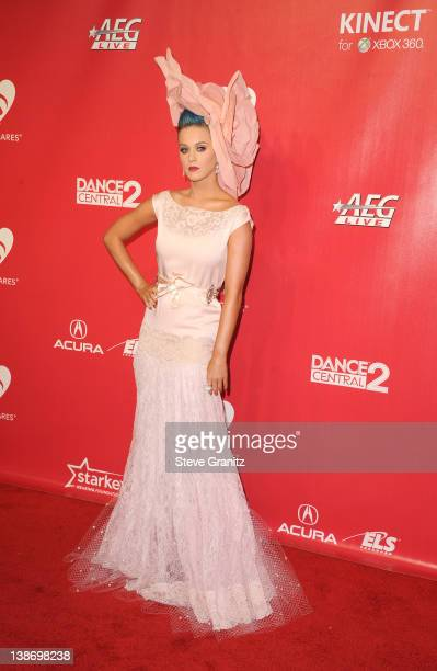 Singer Katy Perry arrives at The 2012 MusiCares Person of The Year Gala Honoring Paul McCartney at Los Angeles Convention Center on February 10, 2012...