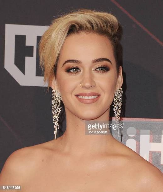 Singer Katy Perry arrives at the 2017 iHeartRadio Music Awards at The Forum on March 5 2017 in Inglewood California