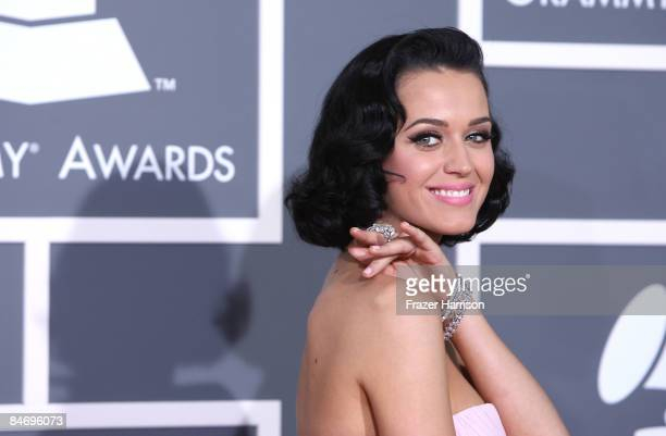 Singer Katy Perry arrives at the 51st Annual Grammy Awards held at the Staples Center on February 8, 2009 in Los Angeles, California.