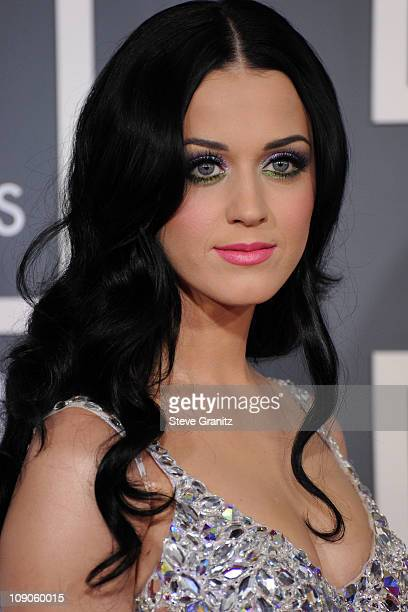 Singer Katy Perry arrives at The 53rd Annual GRAMMY Awards held at Staples Center on February 13 2011 in Los Angeles California