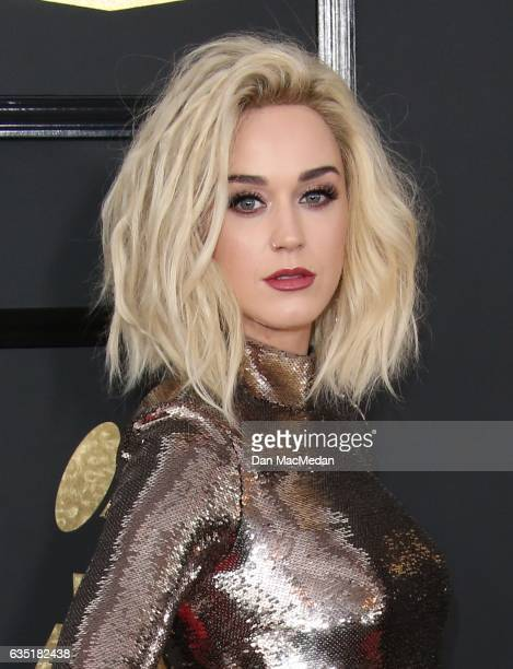 Singer Katy Perry arrives at The 59th GRAMMY Awards at Staples Center on February 12 2017 in Los Angeles California