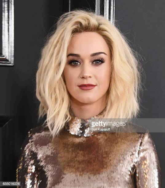 Singer Katy Perry arrives at the 59th GRAMMY Awards at the Staples Center on February 12 2017 in Los Angeles California