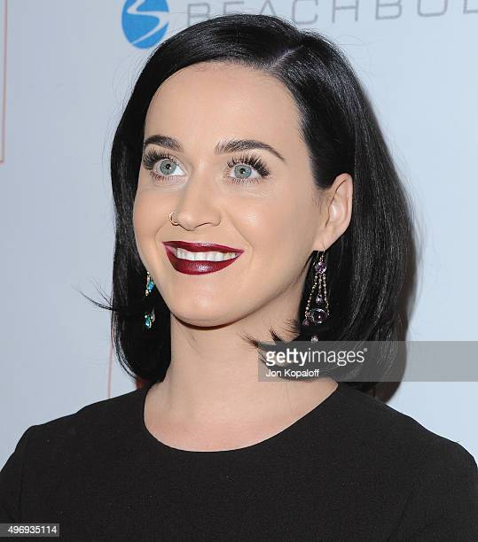 Singer Katy Perry arrives at the 8th Annual GO Campaign Gala at Montage Beverly Hills on November 12 2015 in Beverly Hills California