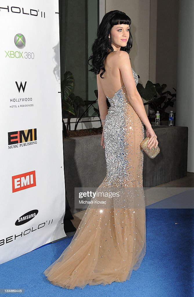 Singer Katy Perry arrives at the EMI Post-GRAMMY Party at W Hollywood on January 31, 2010 in Hollywood, California.
