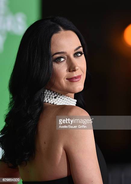 Singer Katy Perry arrives at the Los Angeles Premiere of 'Office Christmas Party' at Regency Village Theatre on December 7 2016 in Westwood California
