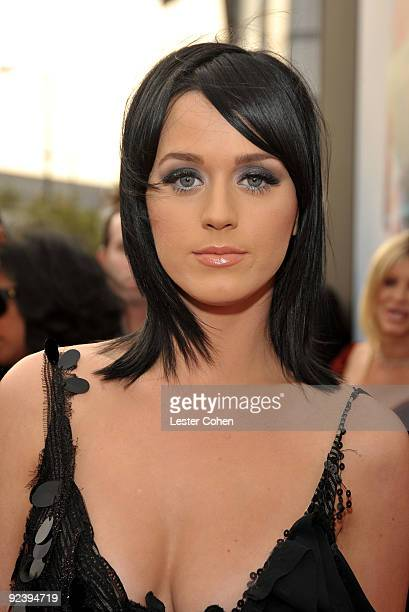 Singer Katy Perry arrives at the Los Angeles premiere of This Is It at Nokia Theatre LA Live on October 27 2009 in Los Angeles California