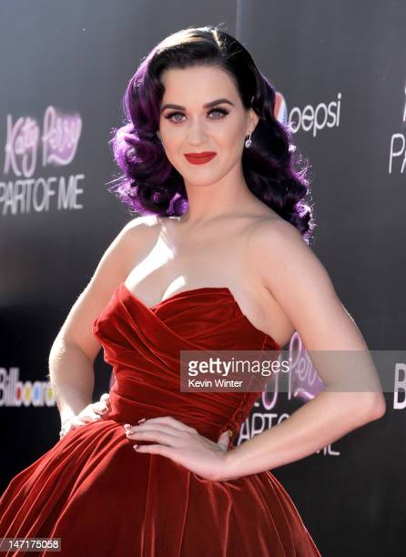 Singer Katy Perry arrives at the premiere of 'Katy Perry Part Of Me' at Grauman's Chinese Theatre on June 26 2012 in Hollywood California The...