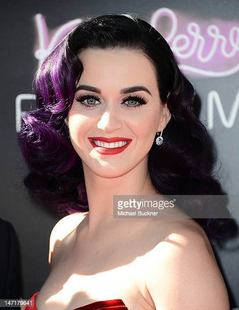 Singer Katy Perry arrives at the premiere of 'Katy Perry Part Of Me' held at Grauman's Chinese Theatre on June 26 2012 in Hollywood California The...