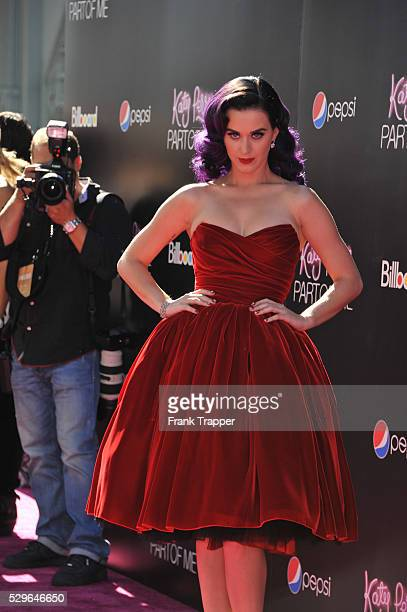 Singer Katy Perry arrives at the premiere of Katy Perry Part Of Me' held at Grauman's Chinese Theatre in Hollywood
