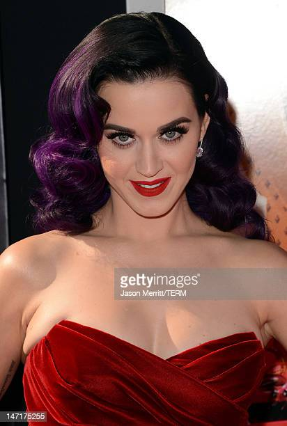 Singer Katy Perry arrives at the premiere of Paramount Insurge's Katy Perry Part Of Me held at Grauman's Chinese Theatre on June 26 2012 in Hollywood...