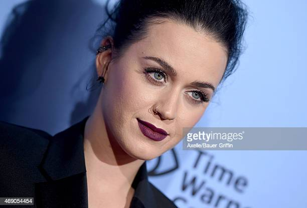 Singer Katy Perry arrives at the World Premiere of EPIX's 'Katy Perry The Prismatic World Tour' at The Ace Hotel Theater on March 26 2015 in Los...