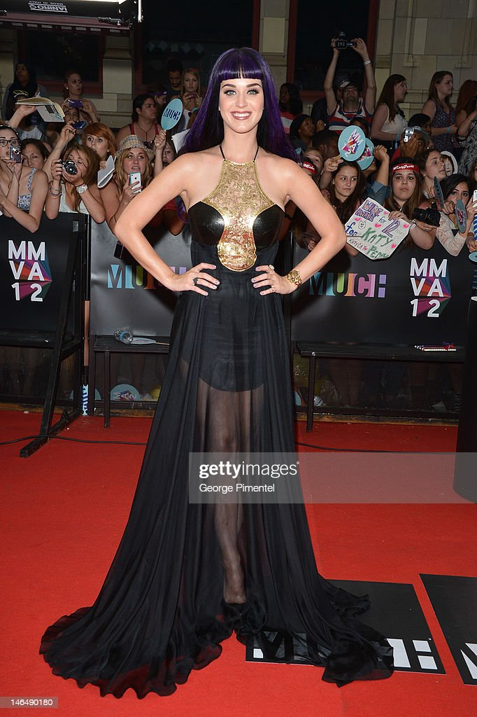 Singer Katy Perry arrives on the red carpet of the 23nd Annual MuchMusic Video Awards at the MuchMusic HQ on June 17, 2012 in Toronto, Canada. at MuchMusic HQ on June 17, 2012 in Toronto, Canada.