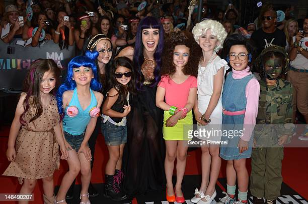 Singer Katy Perry arrives on the red carpet of the 23nd Annual MuchMusic Video Awards at the MuchMusic HQ on June 17, 2012 in Toronto, Canada. At...