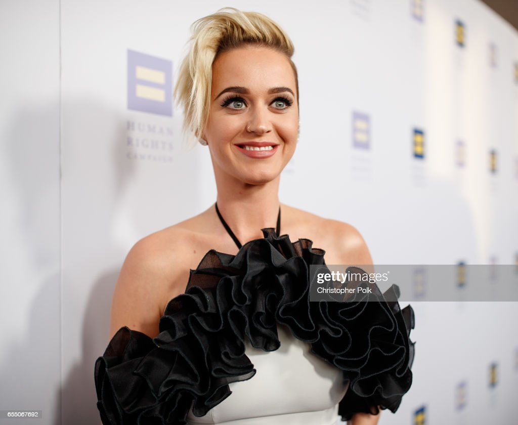 Singer Katy Perry arrives to The Human Rights Campaign 2017 Los Angeles Gala Dinner at JW Marriott Los Angeles at L.A. LIVE on March 18, 2017 in Los Angeles, California.
