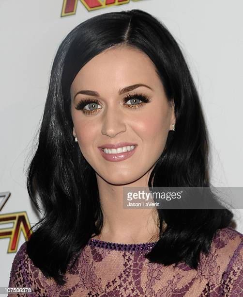 Singer Katy Perry attends 1027 KIIS FM's Jingle Ball 2010 at Nokia Theatre LA Live on December 5 2010 in Los Angeles California