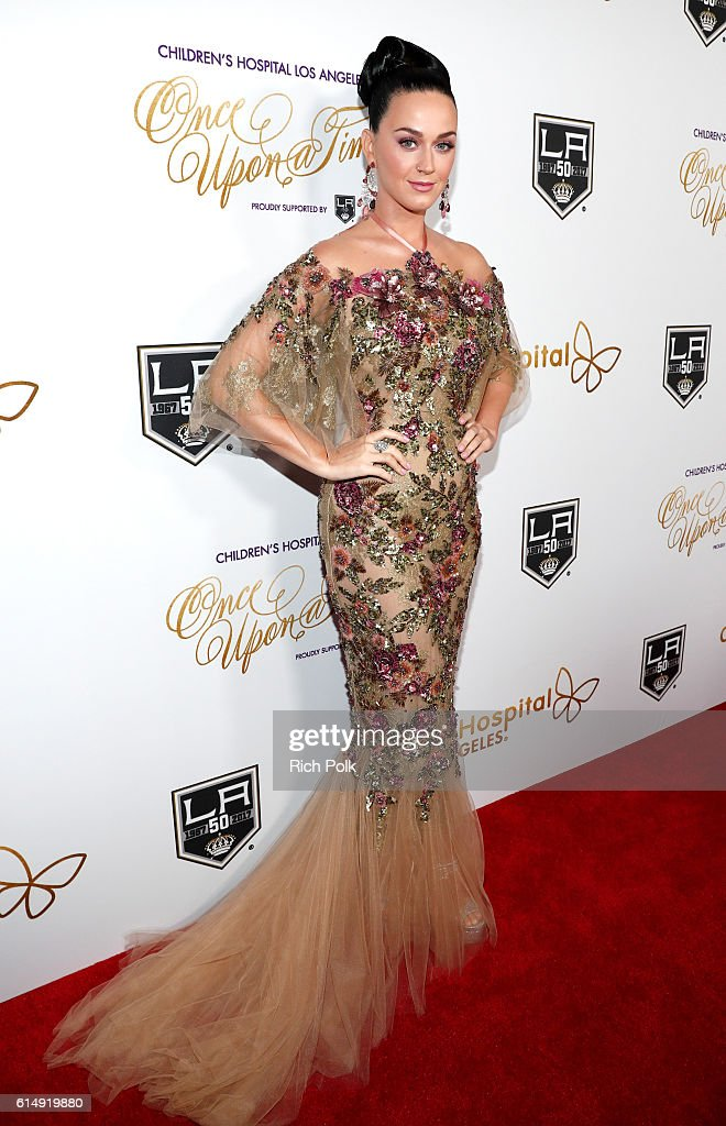 Singer Katy Perry attends 2016 Children's Hospital Los Angeles 'Once Upon a Time' Gala at The Event Deck at L.A. Live on October 15, 2016 in Los Angeles, California.