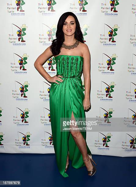 Singer Katy Perry attends a celebration of Carole King and her music to benefit Paul Newman's The Painted Turtle Camp at the Dolby Theatre on...