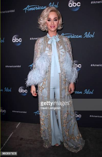 Singer Katy Perry attends ABC's 'American Idol' on May 20 2018 in Los Angeles California