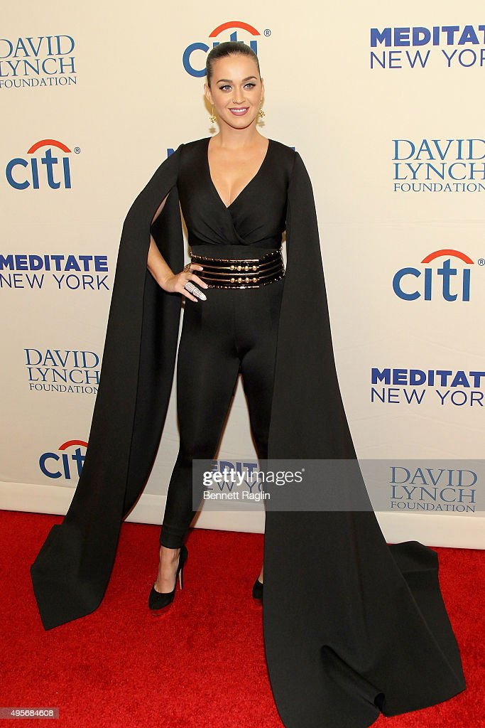 Singer Katy Perry attends Change Begins Within: A David Lynch Foundation Benefit Concert on November 4, 2015 in New York City.