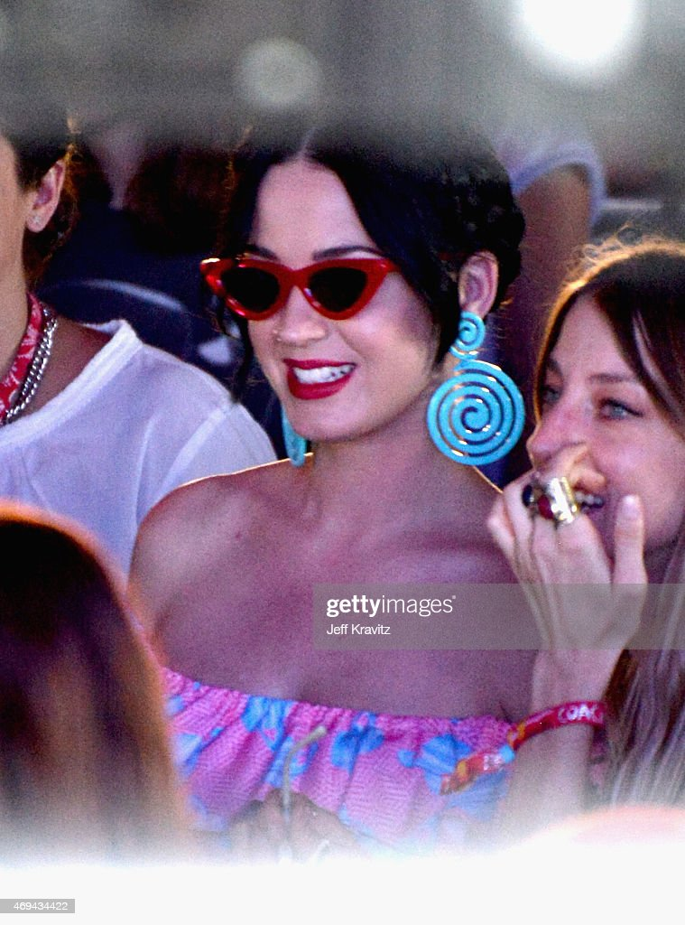 Singer Katy Perry attends day 2 of the 2015 Coachella Valley Music & Arts Festival (Weekend 1) at the Empire Polo Club on April 11, 2015 in Indio, California.