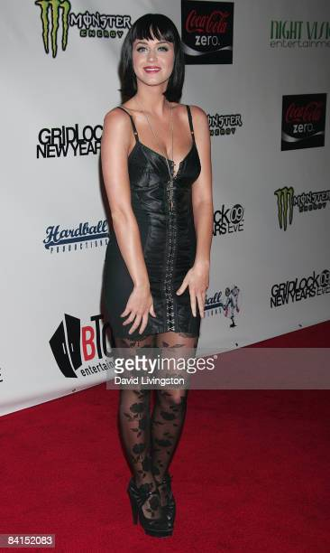 Singer Katy Perry attends Gridlock New Year's Eve at Paramount Studios on December 31 2008 in Hollywood California