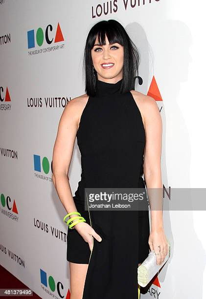 Singer Katy Perry attends MOCA's 35th Anniversary Gala presented by Louis Vuitton at The Geffen Contemporary at MOCA on March 29 2014 in Los Angeles...