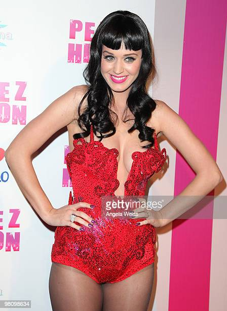 Singer Katy Perry attends Perez Hilton's 'CarnEvil' 32nd birthday party at Paramount Studios on March 27 2010 in Los Angeles California
