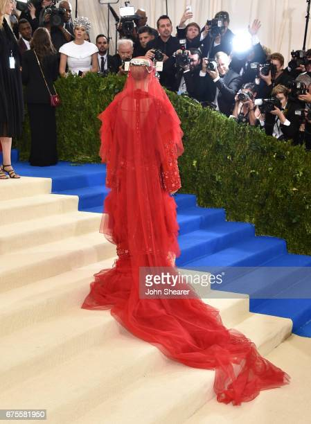 Singer Katy Perry attends 'Rei Kawakubo/Comme des Garcons Art Of The InBetween' Costume Institute Gala at Metropolitan Museum of Art on May 1 2017 in...