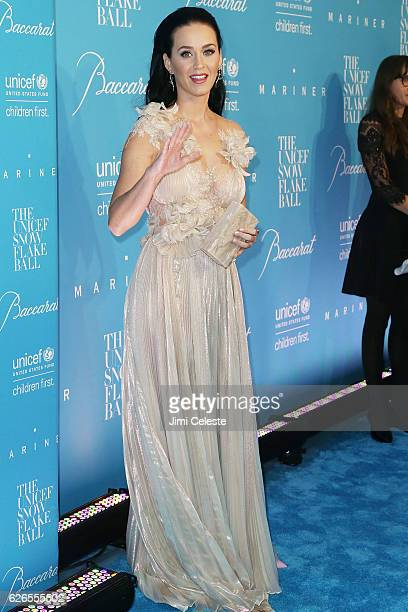 Singer Katy Perry attends the 12th Annual UNICEF Snowflake Ball at Cipriani Wall Street on November 29 2016 in New York City