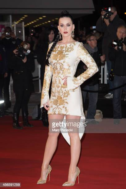 Singer Katy Perry attends the 15th NRJ Music Awards at Palais des Festivals on December 14 2013 in Cannes France