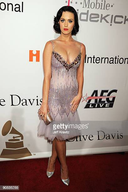 Singer Katy Perry attends the 2009 GRAMMY Salute to Icons honoring Clive Davis at the Beverly Hilton Hotel on February 7 2009 in Beverly Hills...