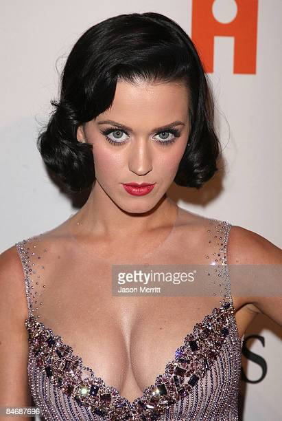 Singer Katy Perry attends the 2009 GRAMMY Salute To Industry Icons honoring Clive Davis at the Beverly Hilton Hotel on February 7 2009 in Beverly...