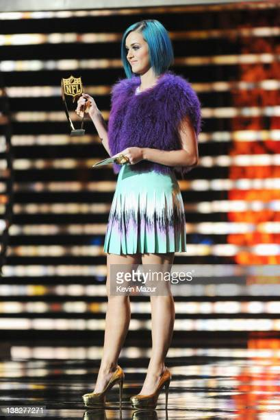 Singer Katy Perry attends the 2012 NFL Honors at the Murat Theatre on February 4, 2012 in Indianapolis, Indiana.